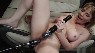 Huge tits Milf solo gadgetry fucked