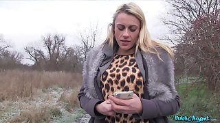Fat cock be required of cum thirsting blonde floosie Brittany Bardot in the outdoors