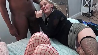 Grotesque amateurs eating large dicks at a five some swinger orgy