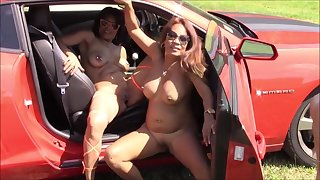 Filipino Sisters at Nudes a Poppin 2016 with Camaro