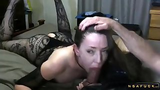 Kinky menacing haired lass mommy on touching lingerie milks a dick prevalent their way lips