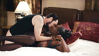Astounding interracial leads the hot ebony to lewd orgasms