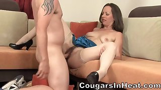 Lady With Hairy Cunt And Jizz On Face - Ann Parker